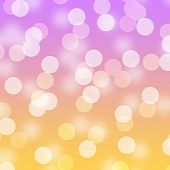Bright blurred abstract bokeh background with upbeat pink and orange colors! poster