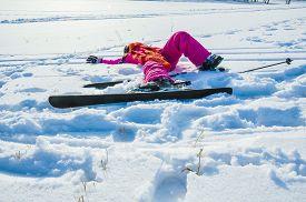 Tired Little Skier