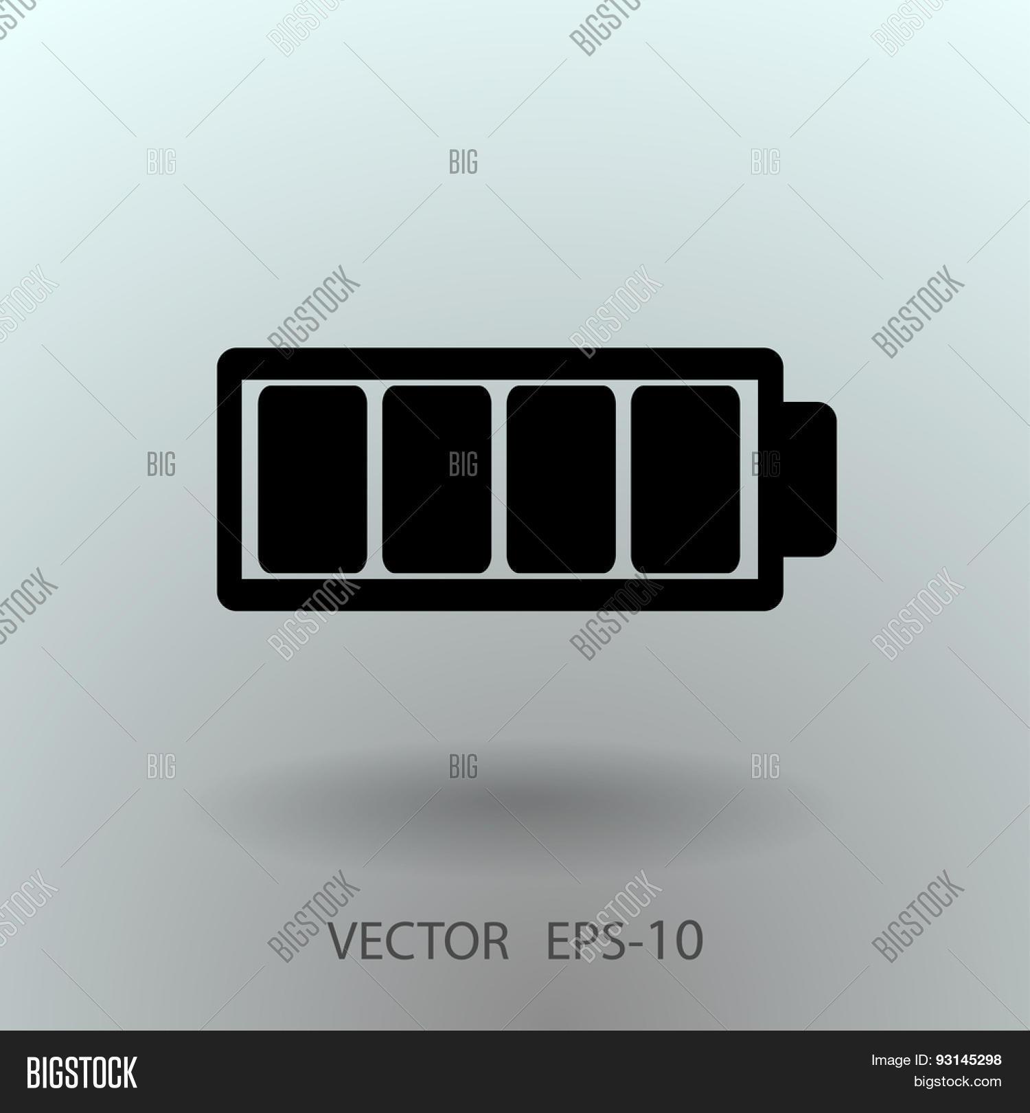 Flat Battery Full Vector & Photo (Free Trial) | Bigstock