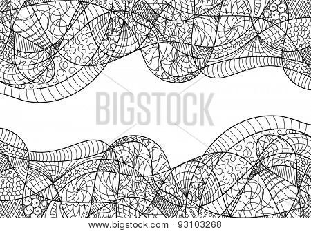vector - Abstract card  zentangle - isolated on background