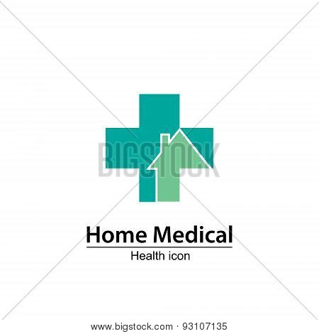 Home Medical symbol. Health icon. Nursing home