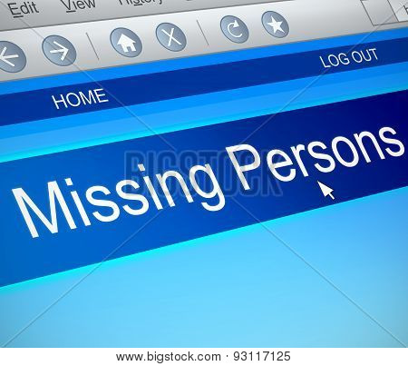 Missing Persons Concept.
