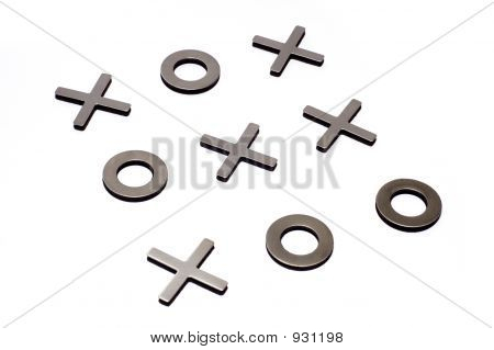 Tic-Tac-Toe Isolated On White Background