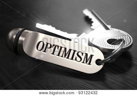 Optimism Concept. Keys with Keyring.