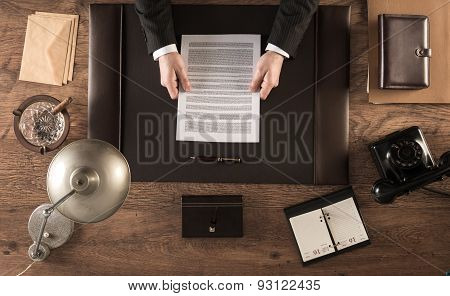 Signing An Agreement