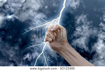 Hand With A Lightning