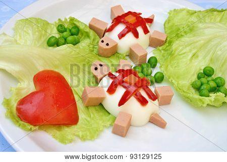 Tortoises - creative snack for kids