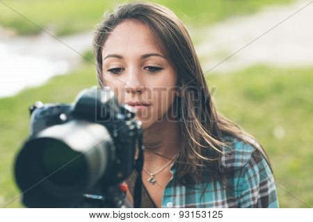 Young Photographer And Videomaker