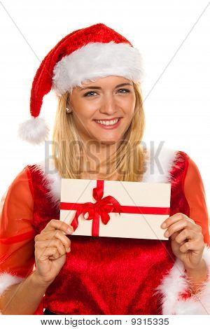 Santa Claus At Christmas With Gifts.