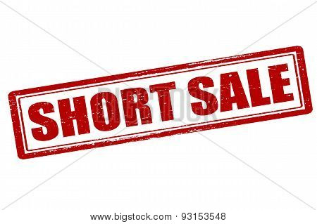 Rubber stamp with text short sale inside vector illustration