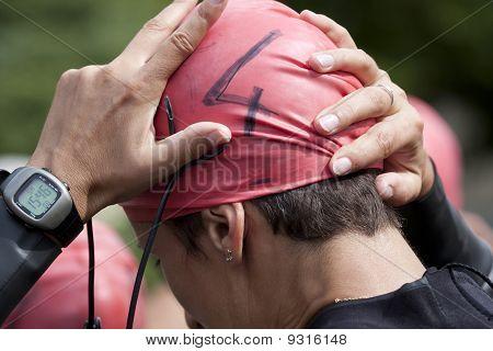 Triathlon swimmer