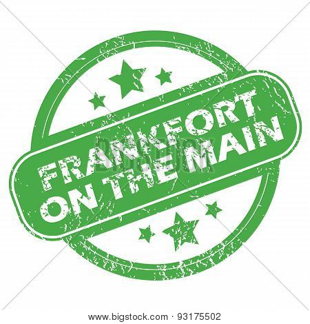 Frankfort on Main green stamp