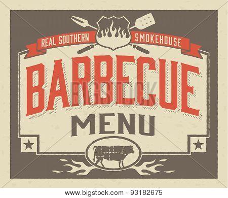 Genuine Southern Barbecue Menu Design