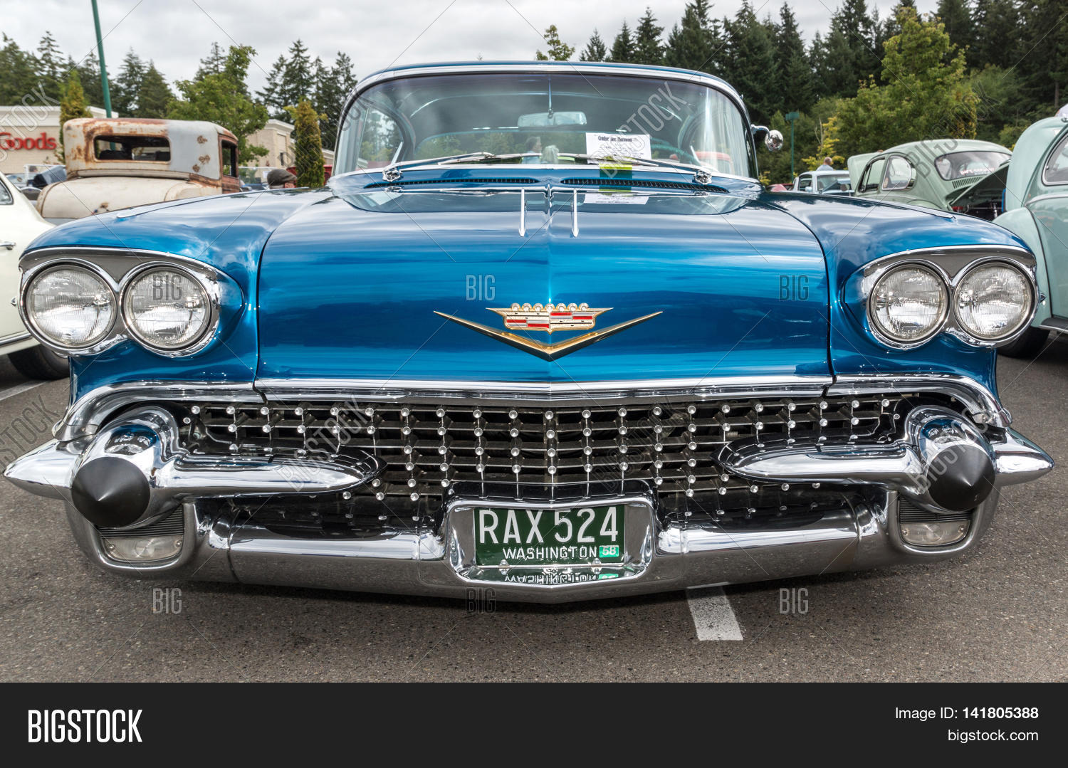Front View Image Photo Free Trial Bigstock - Classic car show washington