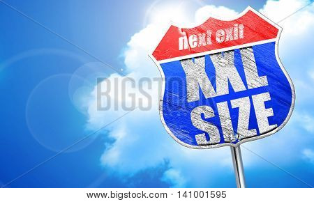 xxl size, 3D rendering, blue street sign