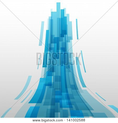 Abstract blue elements technology background, stock vector