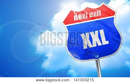xxl sign background, 3D rendering, blue street sign