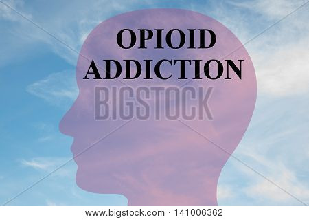 Opioid Addiction Concept