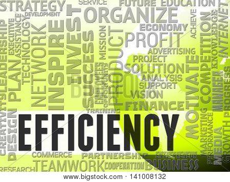 Efficiency Words Indicates Efficacy Productive And Effectiveness