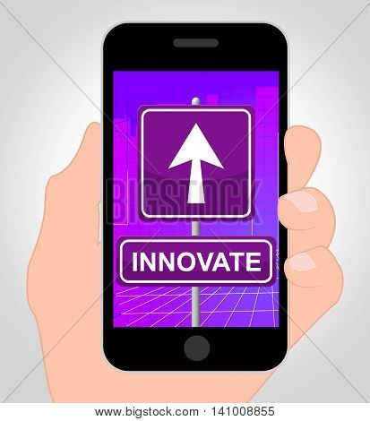 Innovate Online Represents Mobile Phone And Idea