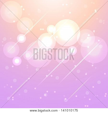 Star lights in aura sky abstract background stock vector