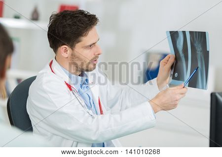 looking at brain x-ray radiographic image