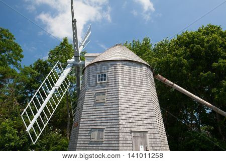 The Judah Baker Windmill. It is an 18th century windmill in South Yarmouth Massachusetts USA