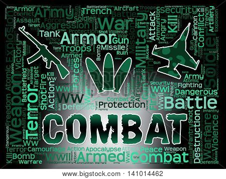 Combat Words Shows Battles Conflicts And Fights
