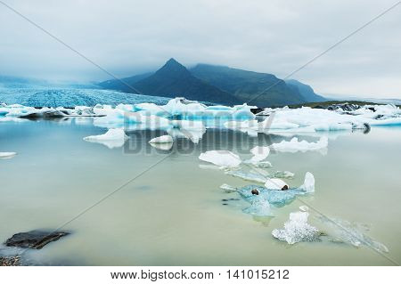 Icebergs In The Glacial Lake, Iceland