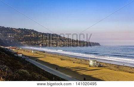 Beach In Beautiful Morning Light At Redondo Beach