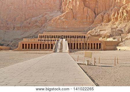 Famous Palace of Hatshepsut in Luxor, Egypt