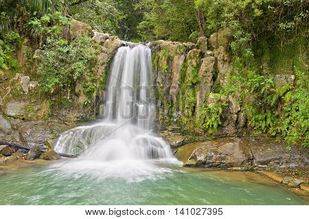 Waiau Falls Coromandel Peninsula North Island New Zealand