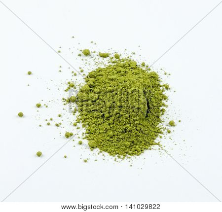 Matcha is traditional Japanese green tea just melted and ready for preparation