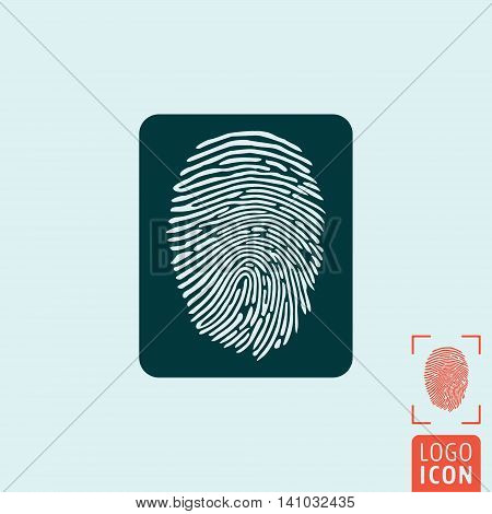 Fingerprint icon. Finger print scanning symbol. Vector illustration