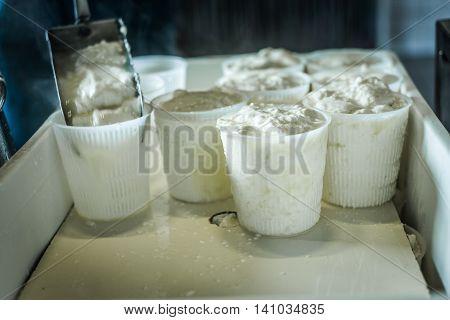 Making Of Ricotta Cheese
