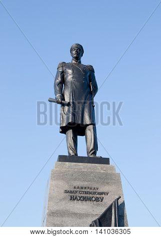 CRIMEA, SEVASTOPOL - JUNE 13,2014: Monument to Admiral Nakhimov in city Sevastopol.