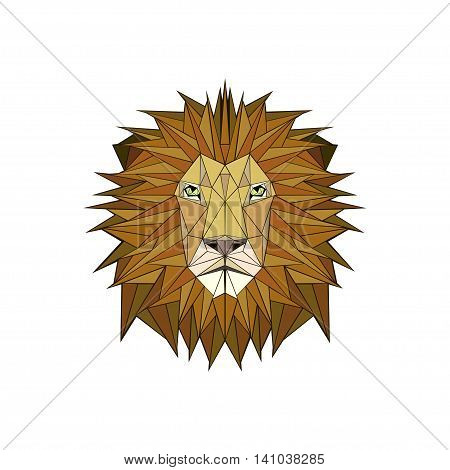 vector illustration abstract portrait of a lion