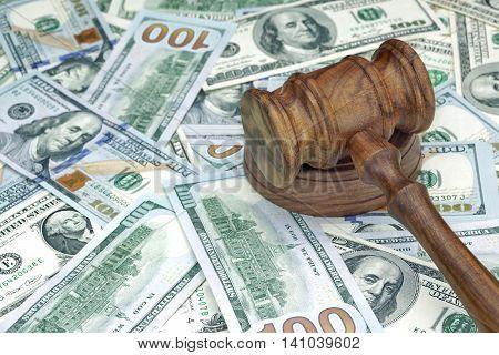 Judges Or Auctioneers Hammer On Huge Money Heap