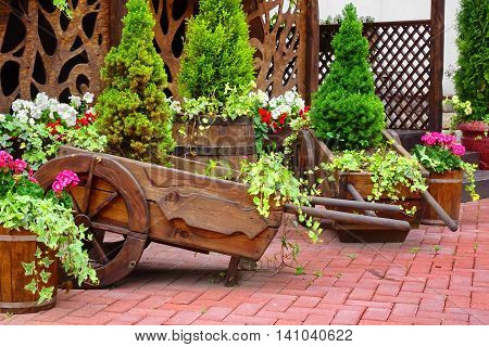 Decorative Patio At The Backyard