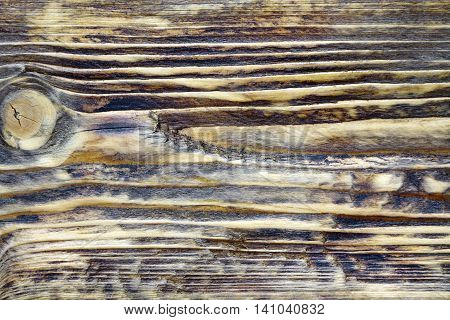 Burned Wooden Board Surface Background After Heat And Flame Treatment.