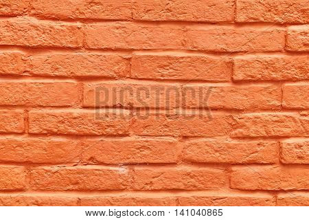 Antique Painted Red Brick Wall Background Or Texture