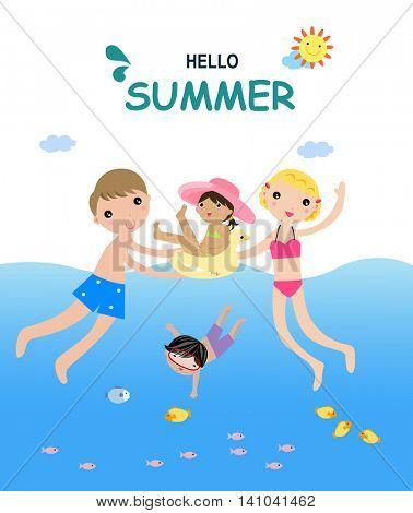 Hello summer - illustration