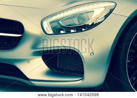 Fragment Of Modern German  Sport Or  Business Class Car