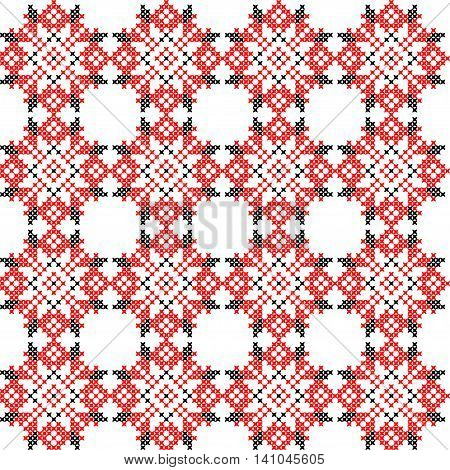 Seamless embroidered texture of abstract flat patterns cross-stitch ornament for cloth