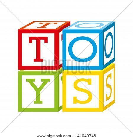 cubes blocks alphabet icon vector illustration design