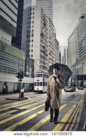 English businessman in a big city