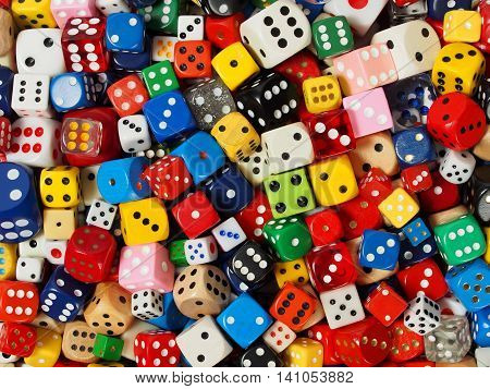 Dice collection can be used as a background