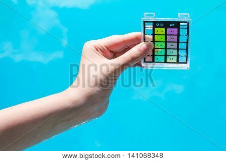 Measure Water Pollution In Blue Outdoor Pool