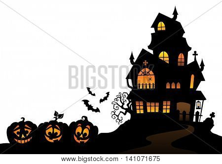 Haunted house silhouette theme image 4 - eps10 vector illustration.
