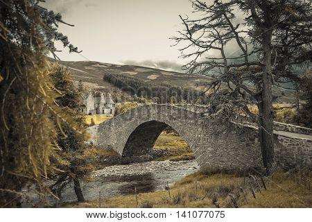 this old stonebridge is fotographed in Scottland in Juli 2016